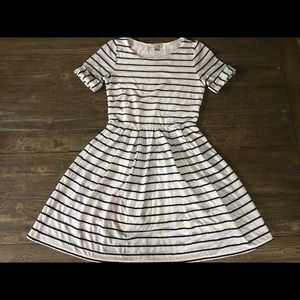 Anthro casual white striped cotton dress